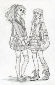 Hermione and Ginny http://meabhdeloughry.deviantart.com/