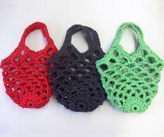 ジャンボかぎ針「アミュレ」で編む ネット編みバッグ<ミニ>   手づくりレシピ   クロバー株式会社