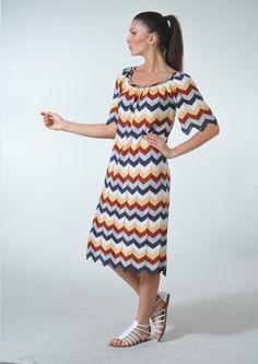Платья из ткани зигзагами