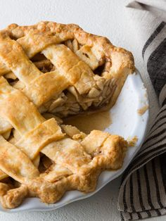 Brown Butter Apple Pie with a Cheddar Crust just in time for Thanksgiving.