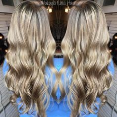 Blonde blonde blonde transitioned from a darkened root to this gorgeous full head of highlights!!! #makaylarheahair #redkenshadeseq #kenraprofessional #RebelChild