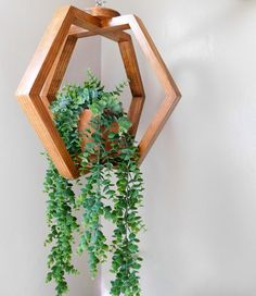 Wooden Plant Hanger – Plant Holder – Plant Hanging – Ceiling Plant hanging-Wall Planter Hexagonal Plant Hanging This hanging is perfect for anyone who loves [. Hanging Wall Planters, Hanging Plants, Indoor Plants, Hang Plants From Ceiling, Ceiling Hanging, Patio Plants, Indoor Gardening, Diy Plant Stand, Wooden Plant Stands