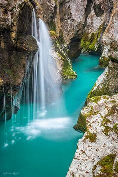 Turquoise water - River Soca, Slovenia