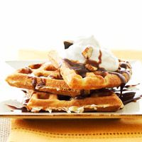 Breakfast - Coconut Waffles - don't these look like a TREAT??