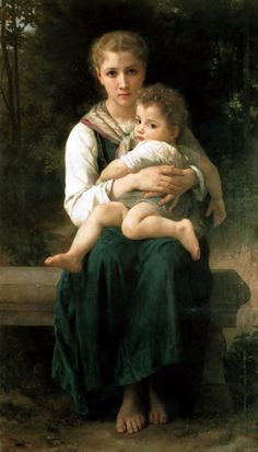 The Two Sisters by William-Adolphe Bouguereau