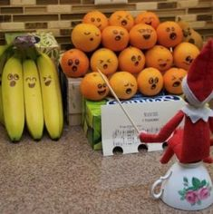 Singer Elf On The Shelf Playing Music With Lovely Fruits. Do with the elf carols tiny paper printout! Christmas Elf, Christmas Humor, Christmas Crafts, Christmas Decorations, Christmas Activities, Christmas Traditions, Awesome Elf On The Shelf Ideas, Elf Magic, Elf On The Self