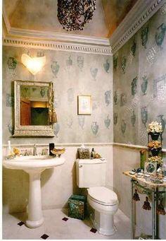 Powder Bath design idea as seen on www.interiordesignpro.org