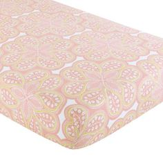$24 the Land of Nod | Baby Sheets: Pink Paisley Crib Fitted Sheet in Crib Fitted Sheets