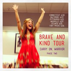More Brave and Kind Tour! Starting this week ...
