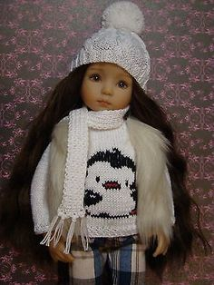 """OOAK handmade WINTER OUTFIT with BOOTS for Dianna Effner Little Darling 13"""""""