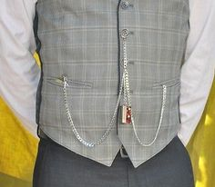 How to wear a double Albert pocket watch.