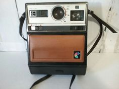 Vintage Kodak Colorburst 100 Instant Camera With Strap Clean Untested #Kodak