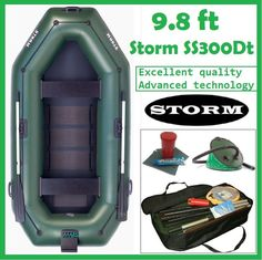 9.8 ft Storm SS300DT Inflatable Boat Pontoon Fishing Boat Powerboat Schlauchboot #Storm