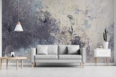 Wallpaper Mural Grey Grunge Concrete e pattern Any size | Etsy Eco Friendly Paper, Wallpaper Paste, Dream Studio, Water Spray, Close To Home, Love Seat, Concrete, Grunge, Indoor