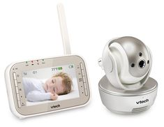 Check out the [VTech VM343 Safe & Sound Video Baby Monitor with Night Vision] reviewed on DigiMancave! The VTech VM343 Safe & Sound Video Baby Monitor provides comprehensive coverage of your baby's movements with a camera rotation of 270 degrees and tilt of 120 degrees, up and down, with the provision to connect up to four cameras. Two way audio assures babies the comfort of the voices...
