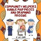 I love teaching about Community Helpers in my classroom!  In this FREE download you will receive bubble map anchor chart pieces and a graphing acti...