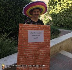 Awesome+Mexican+Wall+Costume+With+Señor+Trump+Sign