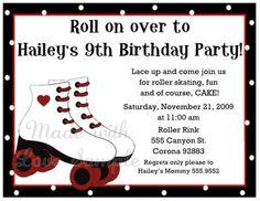 roller skate invitation