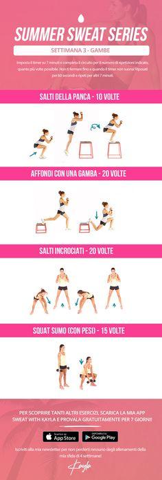 Summer Sweat Series - Settimana 3 Lunedì – Kayla Itsines