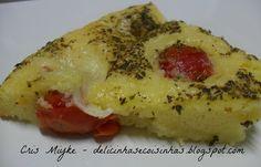 Torta de Tomate Cereja e Mussarela Bolinha - delicinhasecoisinhas.blogspot.com