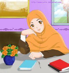 Muslimah Anime, Manga Drawing ❤