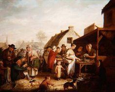 A Scottish marketplace Fine Art Print by Scottish School