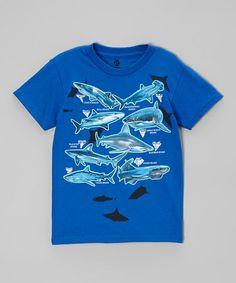 Another great find on #zulily! Royal Shark Teeth Tee - Boys #zulilyfinds