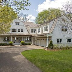 New construction — Landschute Gambrel Barn, Gambrel Roof, House Siding, House Roof, House With Land, Dutch Colonial Homes, Hamptons House, Dream Home Design, Exterior House Colors