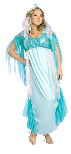 mermaid costumes for plus size women | Plus Size Queen of the Sea Mermaid Costume - Mermaid Costumes