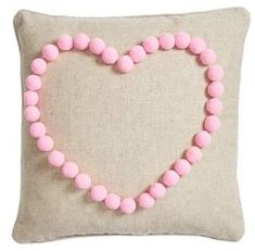 Levtex #Pompom #Heart Accent #Pillow | #ad
