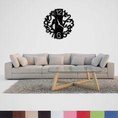 Handmade, Wood, Decorative Wall Clock, Woodpecker Theme Clock, Rustic, Dining, Living Room, Retro, Wood, Handmade, House, Home Decor