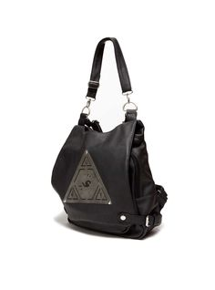 PYRAMID PACK - Black Leather Bag
