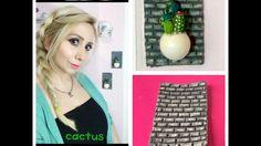 DIY Mini Rock Cactus and Stone Wall / Minikaktus und Steinmauer / Kaktüs...