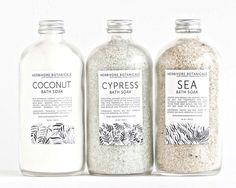 Dead Sea Bath Salt Set / HerbivoreBotanicals