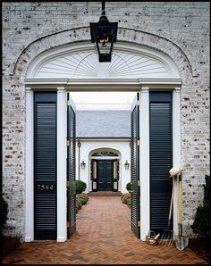 Love the pavers, the lantern, the finish on the bricks.
