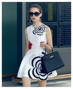 fd0facf2d05d24 Fashion Concise Top Quality Flower Printing Short Little Party Dress  10956603 - Little Party Dress - Dresswe.