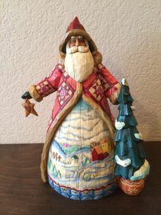 """Jim Shore Santa """"Dashing Through the Snow"""" Collectible Heartwood Creek Christmas"""