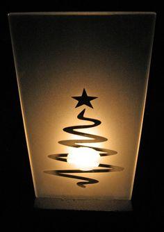 """Glas für Tischlämpchen """"Weihnachtsbaum 1"""""""