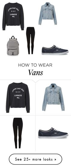 """Comfy school day"" by loriana-somville on Polyvore featuring мода, Topshop, Vans, Rebecca Minkoff и River Island"