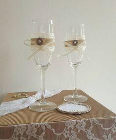 Guarda questo articolo nel mio negozio Etsy https://www.etsy.com/it/listing/466548620/rustic-champagne-flute