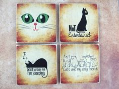 Cat Lover Coasters by Bad Daddy's Wood