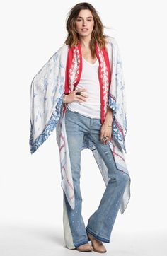 Free People Scarf Wrap | wondering if I could make one of these, since there's no way I'd ever pay $200 for it