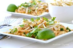 Vegetable Pad Thai ~ Mother Thyme