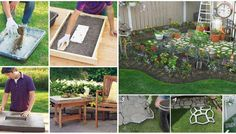 Outdoor Furniture Sets, Outdoor Decor, Stepping Stones, Diy, Gardening, Home Decor, Stair Risers, Decoration Home, Bricolage