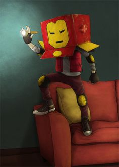 "herochan: ""Iron Man Created by Camilo Otalora """