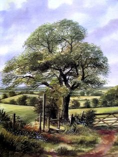 Paisaje con árbol de Terry Harrison