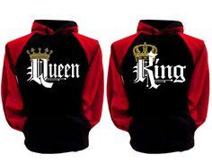 5c38c795f01c2 King Queen Hoodie Matching Couples Love Hoodie Sweater Hoody Sweatshirt