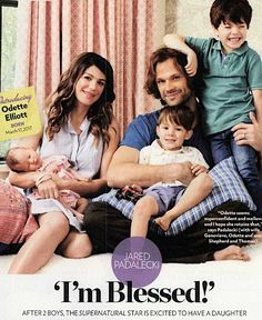 Supernatural's Jared Padalecki, who welcomed daughter Odette Elliott in March, opens up about his life as a father of three in this week's issue of PEOPLE Supernatural Impala, Jared Padalecki Supernatural, Supernatural Actors, Jensen Ackles Jared Padalecki, Jared And Jensen, Winchester Boys, Winchester Brothers, Zeppelin, Crying Pictures