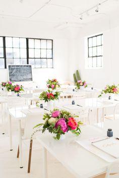 houston calligraphy workshop recap at the Sugar & Cloth studio