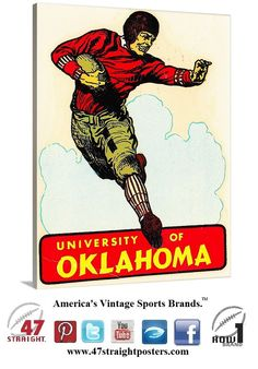 #mobilecommerce #mobile #startup #startups #growthhacking #entrepreneurs  #mcommerce Football art. Vintage #OU #Oklahoma #Sooners #college #football #player #art on canvas. #mancave #gameroom #home #office #sportsart #gifts #giftideas